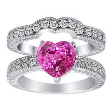 Pink Wedding Rings by Pink Heart Shape Engagement Ring I Would Change The Color To