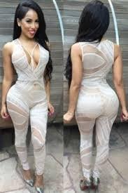 women white lace catsuit jumpsuit bodysuit fancy dress club wear