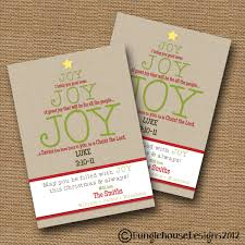 Christmas Card Diy Printable Joy Joy Joy Christian
