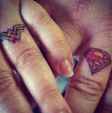 superman wedding band 42 wedding ring tattoos that will only appeal to the most amazing