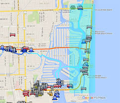 map of ft lauderdale hotels cruise port everglades at fort lauderdale a free and