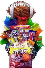 candy basket delivery football candy bouquet search baby shower