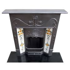 victorian fireplace original art nouveau victorian combination