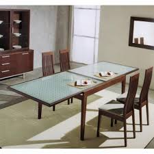 Modern Dining Table Designs With Glass Top Rectangular Glass Dining Table Wood Base Dining Table Pedestal