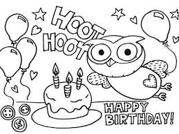 printable happy birthday coloring pages coloring me happy
