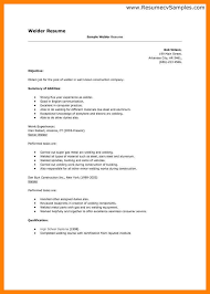 simple resumes exles welder resume exles 9 welding simple print likewise cover letter