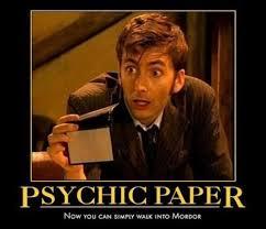 Psychic Meme - psychic paper imgur