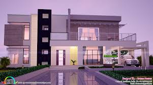 contemporary home all side views kerala home design and floor