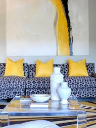 Yellow And Blue Decor Yellow And Blue Living Room Contemporary Living Room Tobi