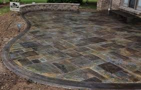 2017 Stamped Concrete Patio Cost Stamped Concrete Patio Cost Cincinnati Stamped Concrete Patio