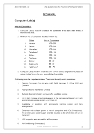 Business Lease Proposal Template Pre Qualification Notices For Test Centers U0026 Computer Labs