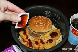 cuisiner un hamburger cuisiner un big mac dans un cuiseur de riz
