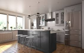 pre assembled kitchen cabinets society shaker steel gray semi custom pre assembled kitchen