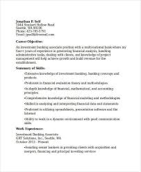 Investment Banking Resume Sample by Bank Resume Samples Enwurf Csat Co