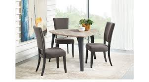 triangle dining room table gray 4 pc triangle dining set casual