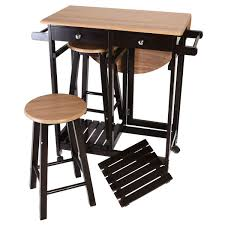 kitchen island table with stools 3 pcs rolling kitchen island cart with 2 stools kitchen dining