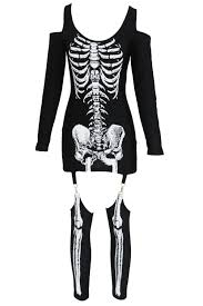Halloween Skeleton Bodysuit X Rayed Halloween Skeleton Dress Costume Wholesale