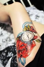 vintage watch tattoo with awesome literary tattooshunter com