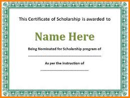 templates for scholarship awards sles certificate blank music award certificate award certificate