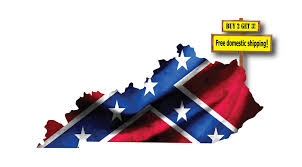 Confederate Flag Decals Truck Kentucky Confederate Dixie Flag Buy 2 Get 3 The Decal Barn
