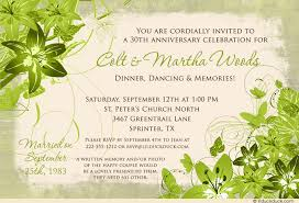30th wedding anniversary party ideas 30th wedding anniversary invitation wording casadebormela