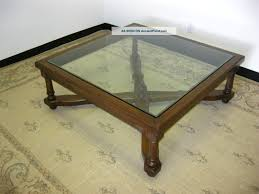 antique glass top coffee table rascalartsnyc
