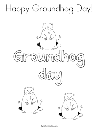 Groundhog Day Coloring Pages Twisty Noodle Groundhog Color Page