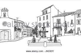 window city town view sketch stock vector art u0026 illustration