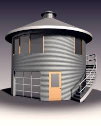 simple silo builder workshop garage on bottom and office on top or guest house rental