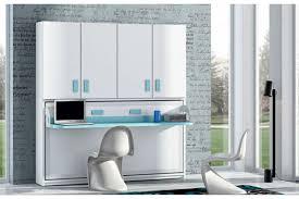 meuble bureau fermé avec tablette rabattable armoire lit escamotable horizontal rabatable bureau rangement
