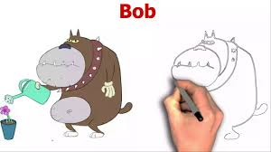 draw bob oggy cockroaches cartoon character