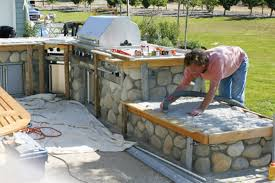 Tiling A Countertop Tiling An Outdoor Countertop With A Reinforced Mortar Bed