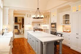 decor elegant kitchen island with superwhite countertop and