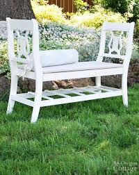 White Wood Outdoor Furniture by 6 Wood Garden Bench Ideas And How To Diy
