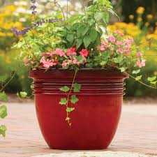 better homes and gardens bombay decorative planter red sedona