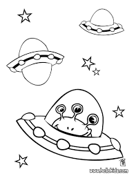 alien in spaceship coloring pages hellokids com