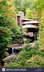 frank lloyd wright waterfall frank lloyd wright u0027s fallingwater in pennsylvania off rt 381 stock