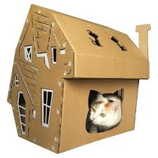 halloween cardboard cat houseunique cat furniturehelloween