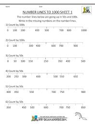 number line worksheets up to 1000