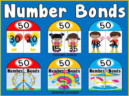 number bonds cards to 50 maths numeracy display eyfs key stage 1