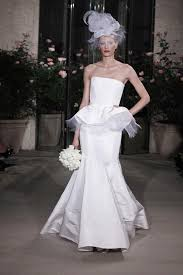 modern wedding dress oscar de la renta ivory silk 12n34 peplum modern wedding dress