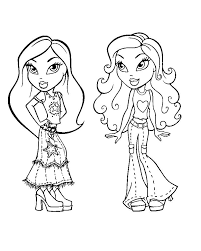 Bratz Coloring Pages Jade And Sasha Coloringstar Bratz Coloring Pages