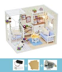 Dollhouse Floor Plans Amazon Com Cuteroom Dollhouse Miniature Diy Kit With Cover Music