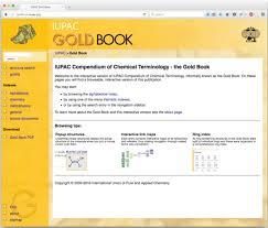 the iupac gold book chemistry international