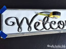 wooden letter templates crafty teacher lady diy rustic wood sign tutorial for both templates featured in this tutorial hello sunshine welcome i ve used this free font using a ball point pen trace each letter