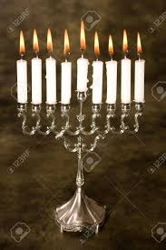 where can i buy hanukkah candles nine candles in a silver hanukkah candle holder stock photo