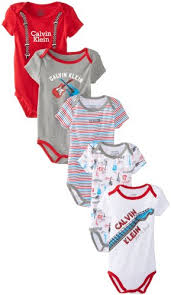 black friday baby stuff calvin klein baby boys newborn 5 pack creepers red and gray group