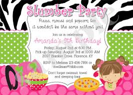 slumber party birthday invitation invite sleepover pajama
