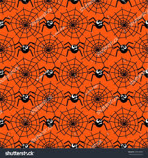 halloween background repeating halloween pattern spiders spider webs seamless stock vector