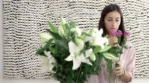 how to arrange lilies and roses with vase youtube